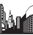 new york black and white image vector image