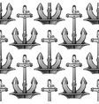 Nautical stockless anchors seamless pattern vector image