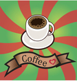 set of business cards on coffee vector image