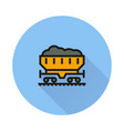 coal car icon on round background vector image