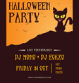 design halloween party poster collection vector image