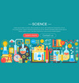 Flat design concept of science horizontal banner vector image