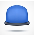 Layout of blue rap cap vector image