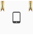 Modern digital tablet PC icon vector image