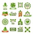 Organic And Natural Labels Set vector image