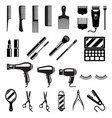 set of beauty salon tools vector image