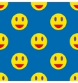 Smile seamless pattern 3 vector image