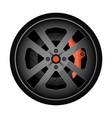 titanium auto rim icon vector image