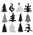 Christmas Tree Shapes vector image