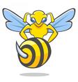 Hornet emblem vector image