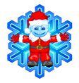 Santa snowflake vector image vector image