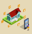remote house control concept vector image vector image