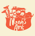 noahs ark with beasts vector image