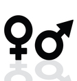 man and girl icon vector image