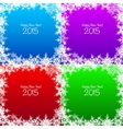 Set of Christmas snowflake backgrounds vector image vector image