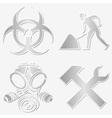 warning symbols stickers vector image vector image