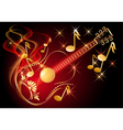 Guitar and musical notes vector image vector image