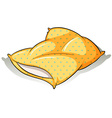 A yellow pillow vector image