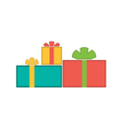 Christmas gifts flat vector image