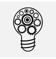 Cogwheel lamp sign icon Creative idea symbol vector image