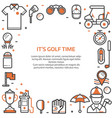 golf club card or invitation template vector image