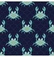 Happy crabs pattern vector image