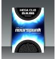neuropunk party flyer vector image