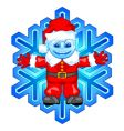 Santa snowflake vector image