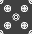 Sewing button sign Seamless pattern on a gray vector image