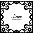 Square lace frame vector image