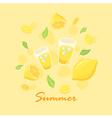 Summer Lemon Lemonade vector image