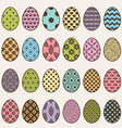 colorful eggs set for easter vector image vector image