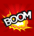 abstract boom comic book pop art background vector image