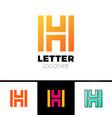 Unusual geometric letter h architecture vector image