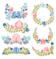 Floral ornaments and frames vector image vector image