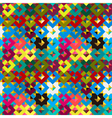Colorful rhombus frames abstract seamless pattern vector image