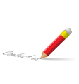 contact us pencil vector image