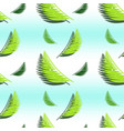 gradient seamless pattern with palm leaves vector image
