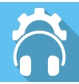 Headphones Configuration Flat Square Icon with vector image