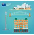 Sydney Architecture Tourism Australia Opera House vector image