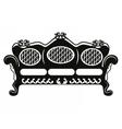 Vintage Baroque Sofa round shaped vector image