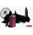 English telephone booth vector image vector image