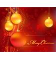Christmas bokeh background vector image vector image