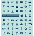 Set of building icons vector image