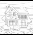 catroon house building coloring vector image