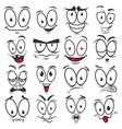smile cartoon emoticons and emoji faces vector image