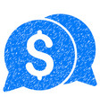 money messages grunge icon vector image