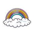 Clouds and rainbow vector image