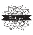 Thank you black flowers vector image