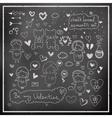 Chalk board romantic set in vector image